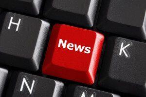 Tastatur mit roter News Taste