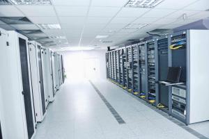 Foto eines Serverraumes