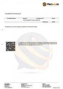 Transaktionsübersicht der WHMCS PDF Rechnungsvorlage