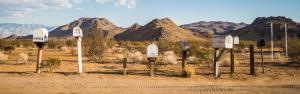 Postkästen in der Wüste