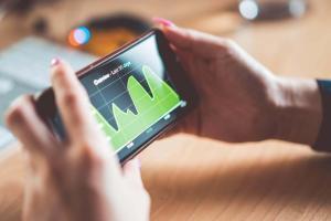 Statistiken auf einem Smartphone