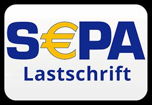Logo für SEPA Lastschrift als Zahlungsmittel